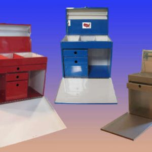 Tack Boxes red,blu, chrome